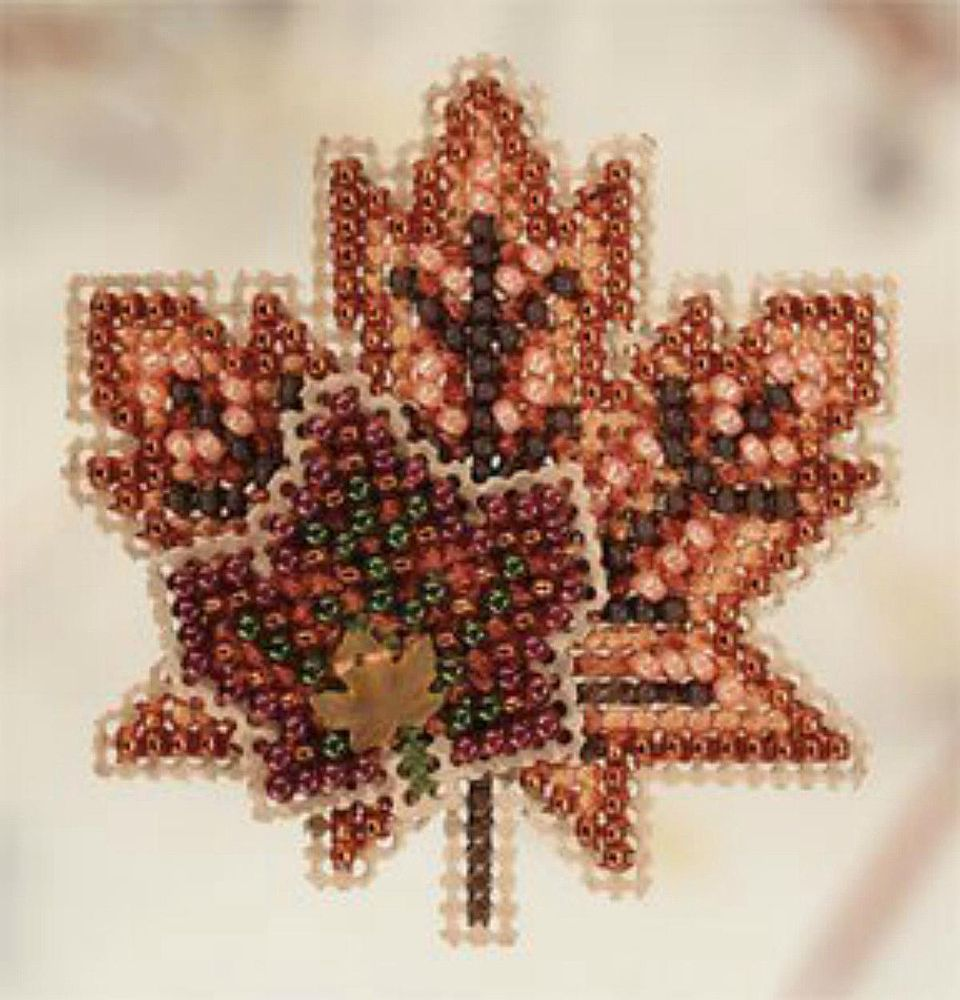 10 fall leaf inspired cross stitch patterns
