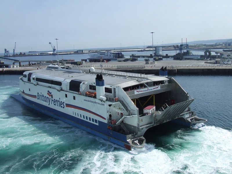 Cherbourg - Brittany Ferry Crosses the English Channel to Cherbourg