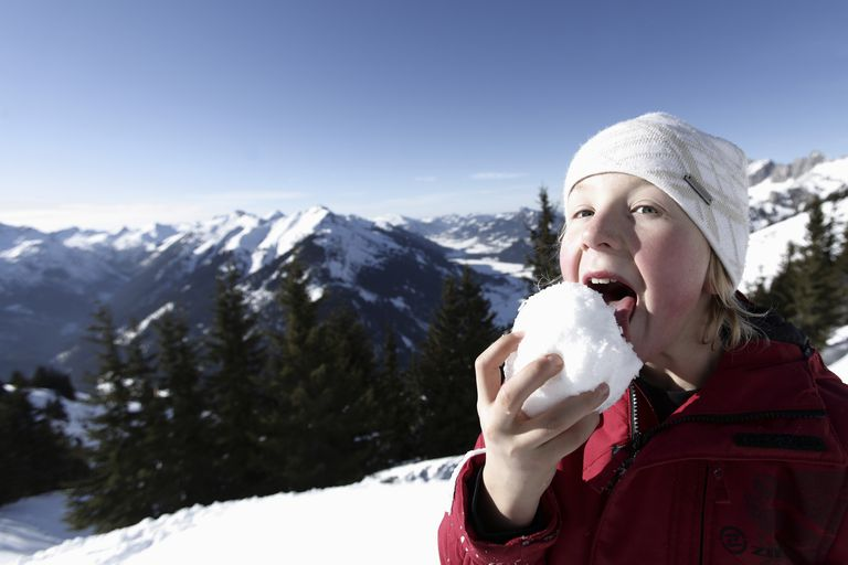 Sure, you can lick a snowball, but wouldn't it taste better to make snow ice cream using that snow?