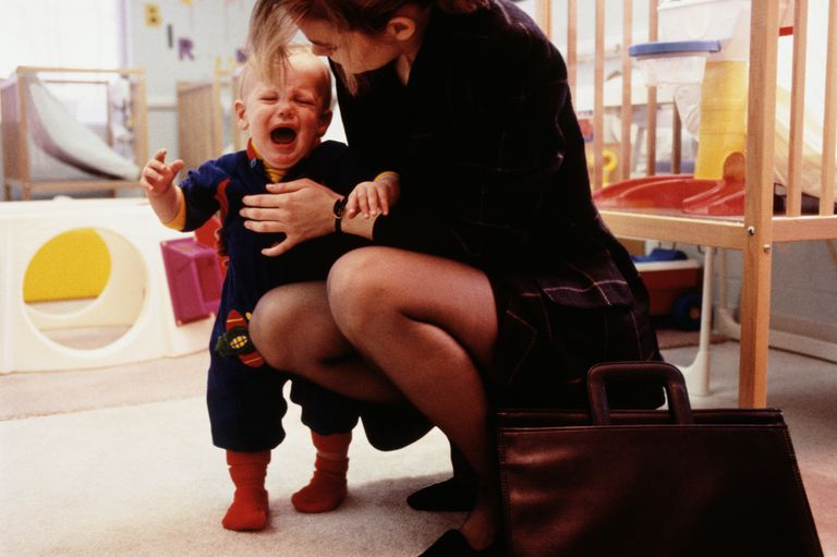 toddler crying at daycare