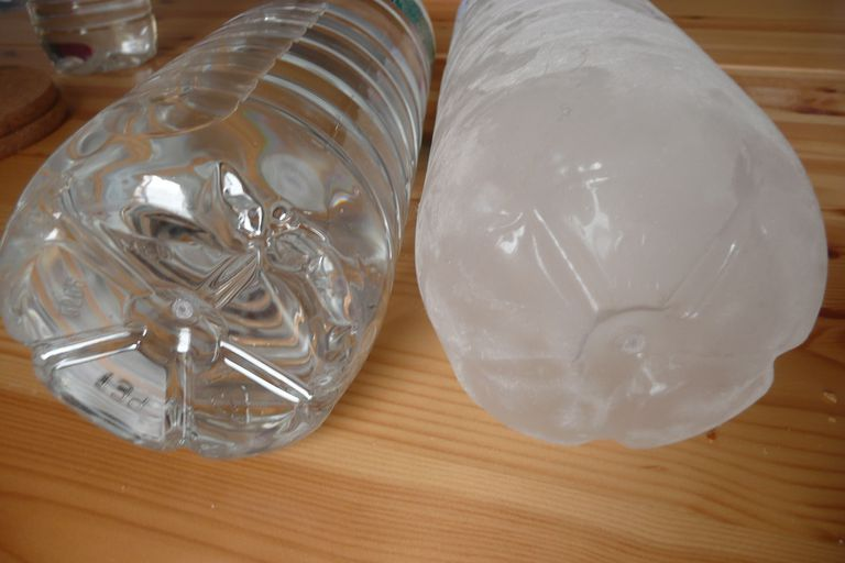 If you disturb water that has been supercooled, it will suddenly crystallize into ice.
