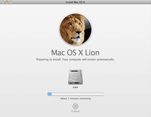 What is needed to install OS X Lion