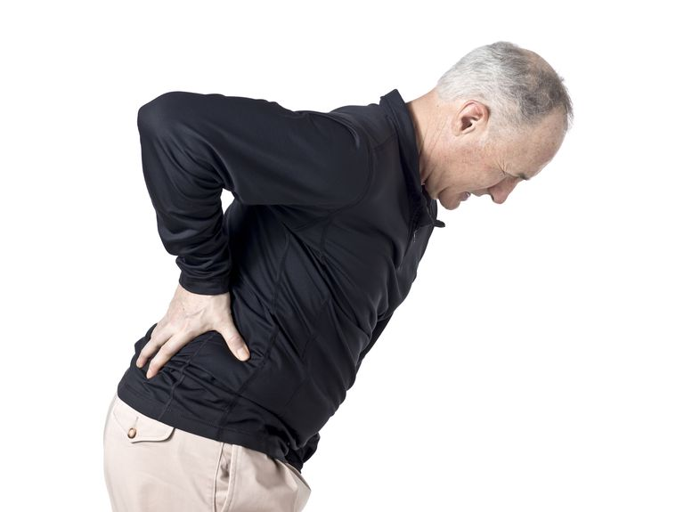 Back pain in men.