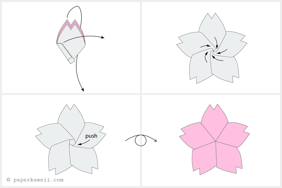 Origami Cherry Blossom Tutorial - photo#24