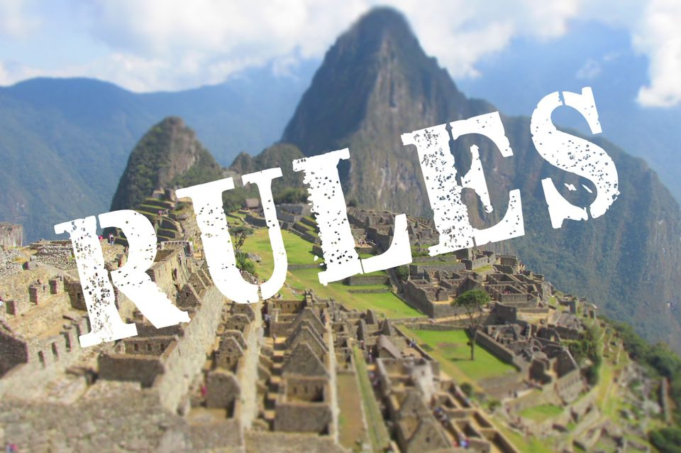 Machu Picchu visiting rules