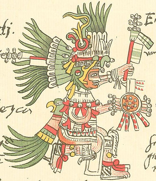 Aztec God Huitzilopochtli from the Codex Telleriano-Remensis