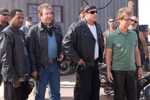 Martin Lawrence, Tim Allen, John Travolta and William H Macy Photo from Wild Hogs