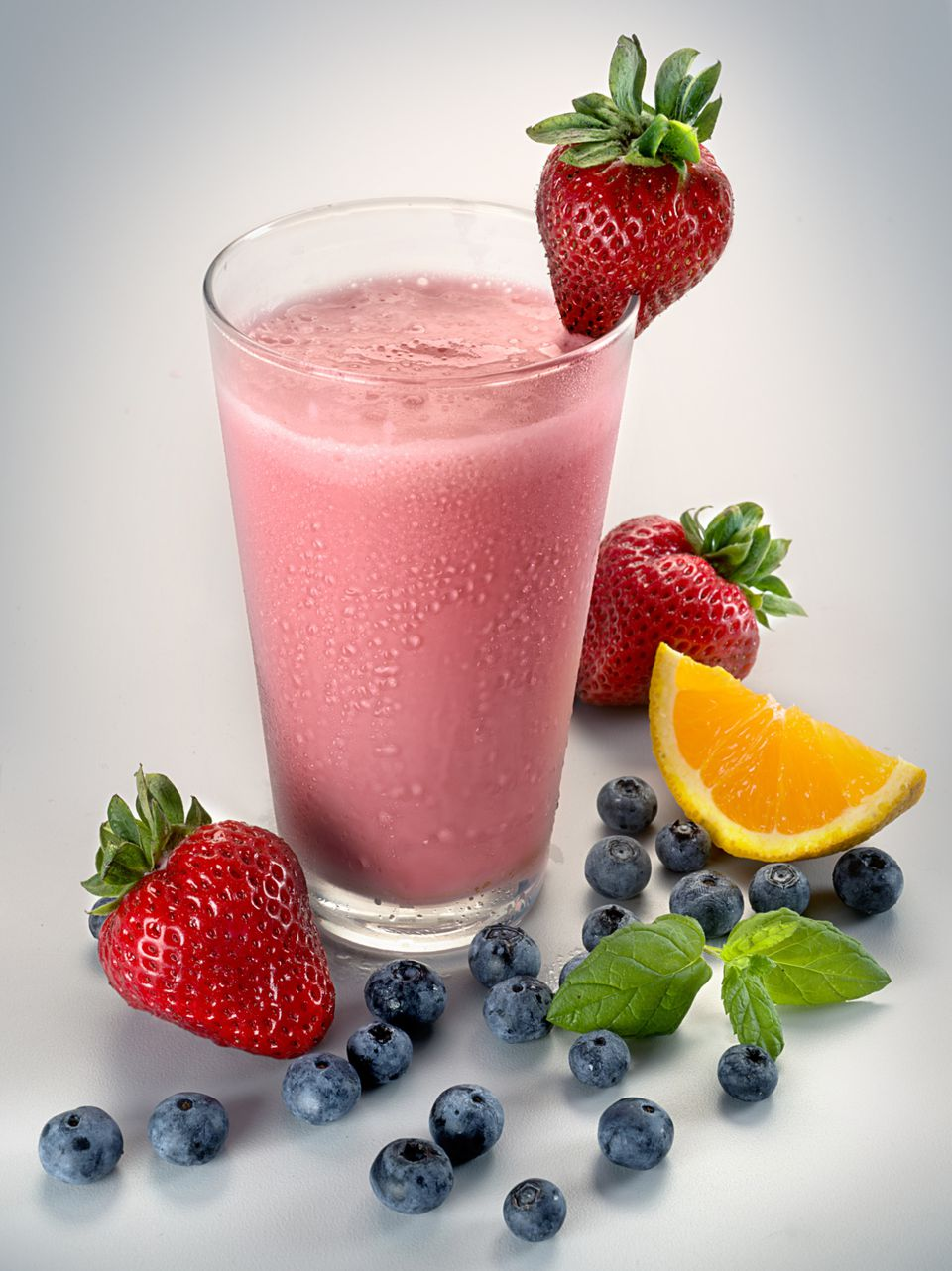 Blueberry and Strawberry Smoothie