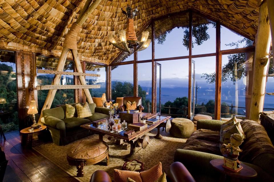 Luxury Interior Ngorongoro Crater Lodge Tanzania