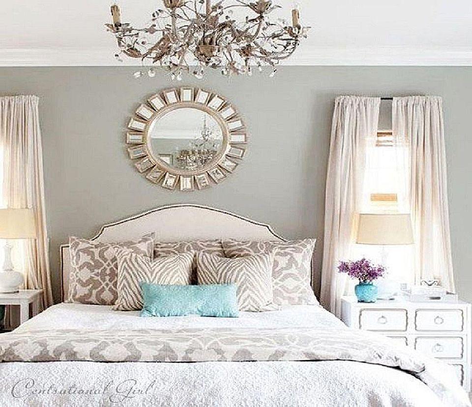 Glamorous gray bedroom.