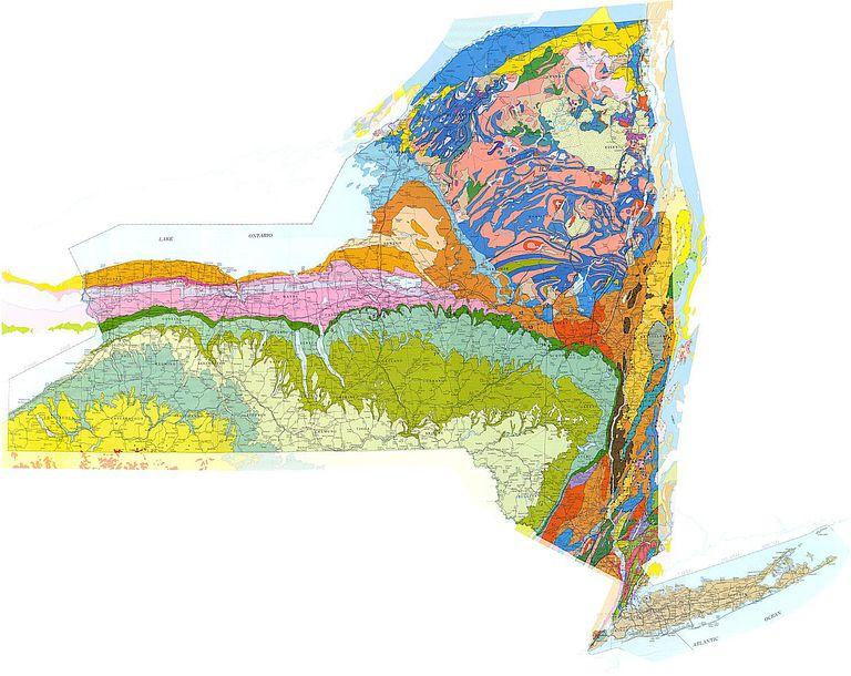 New York Geologic Map New York S Rocks