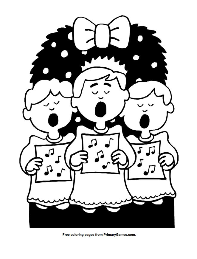 Primary Games Christmas Coloring Pages