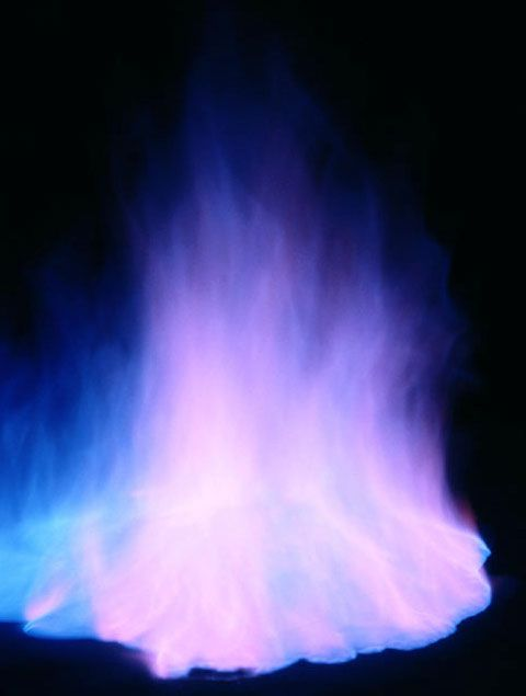 This is a photo of blue fire.