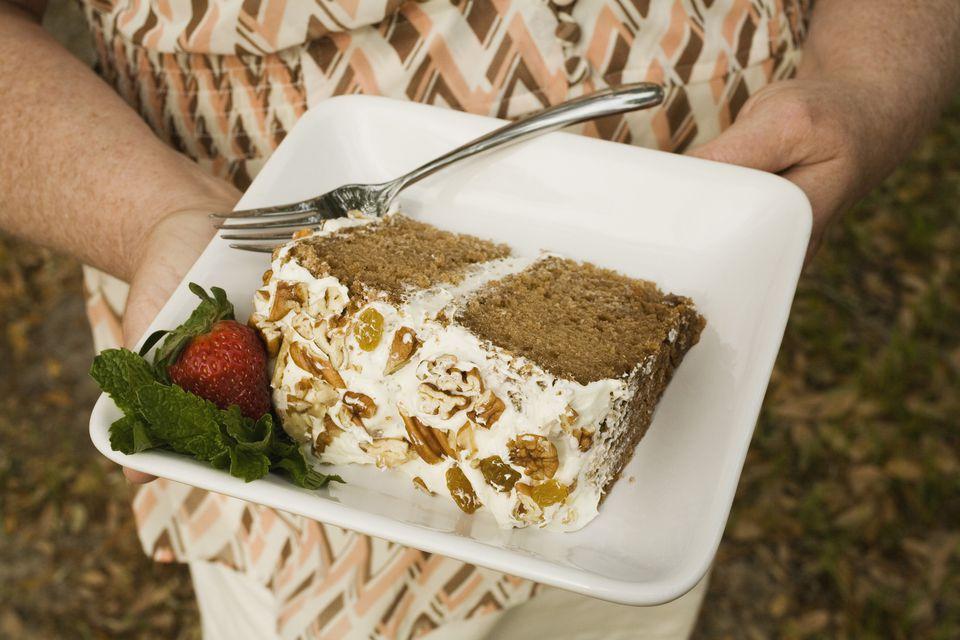 Slice of lady Baltimore cake