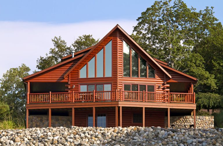 The architecture of the log cabin for Gable log homes