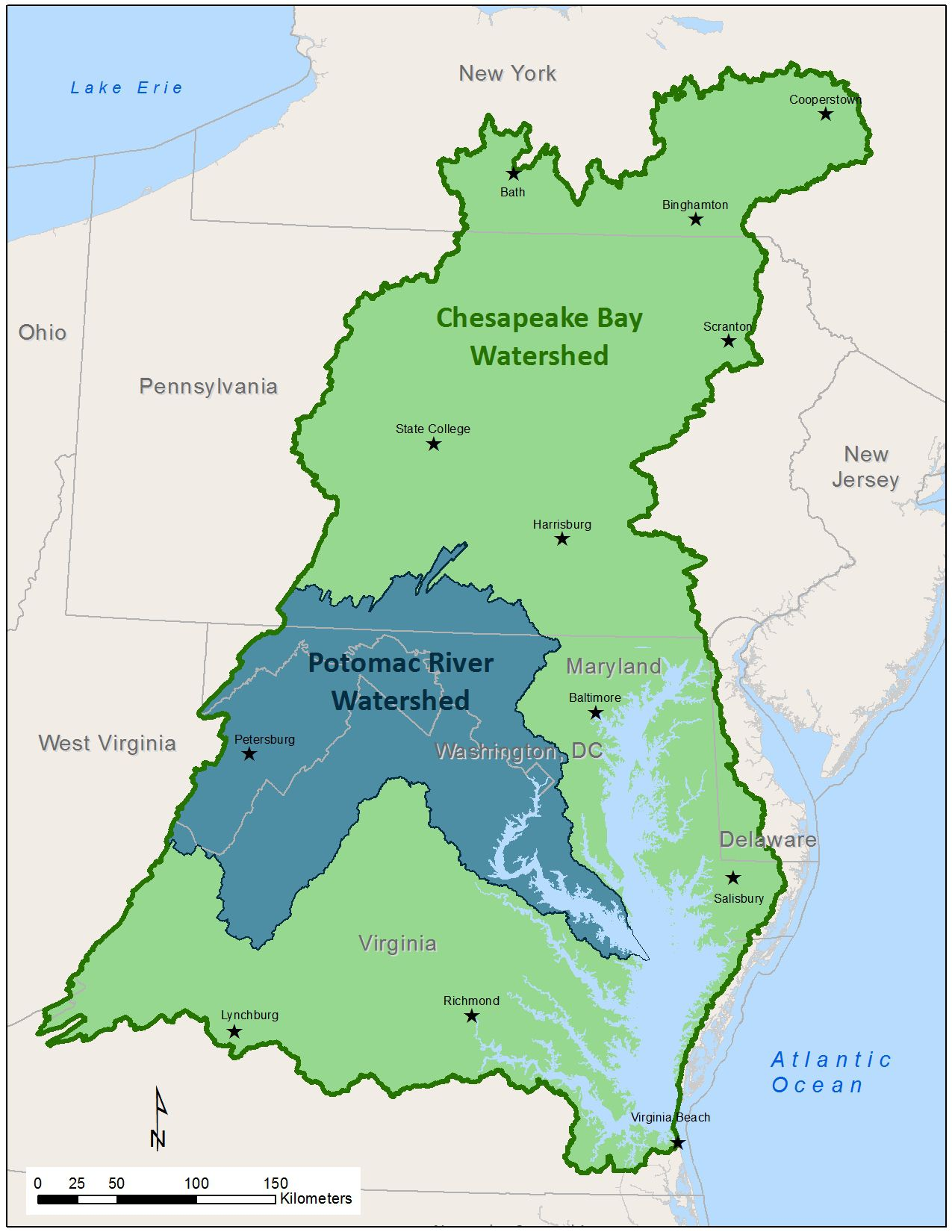 Maps Of The Chesapeake Bay Rivers And Access Points - West virginia rivers map