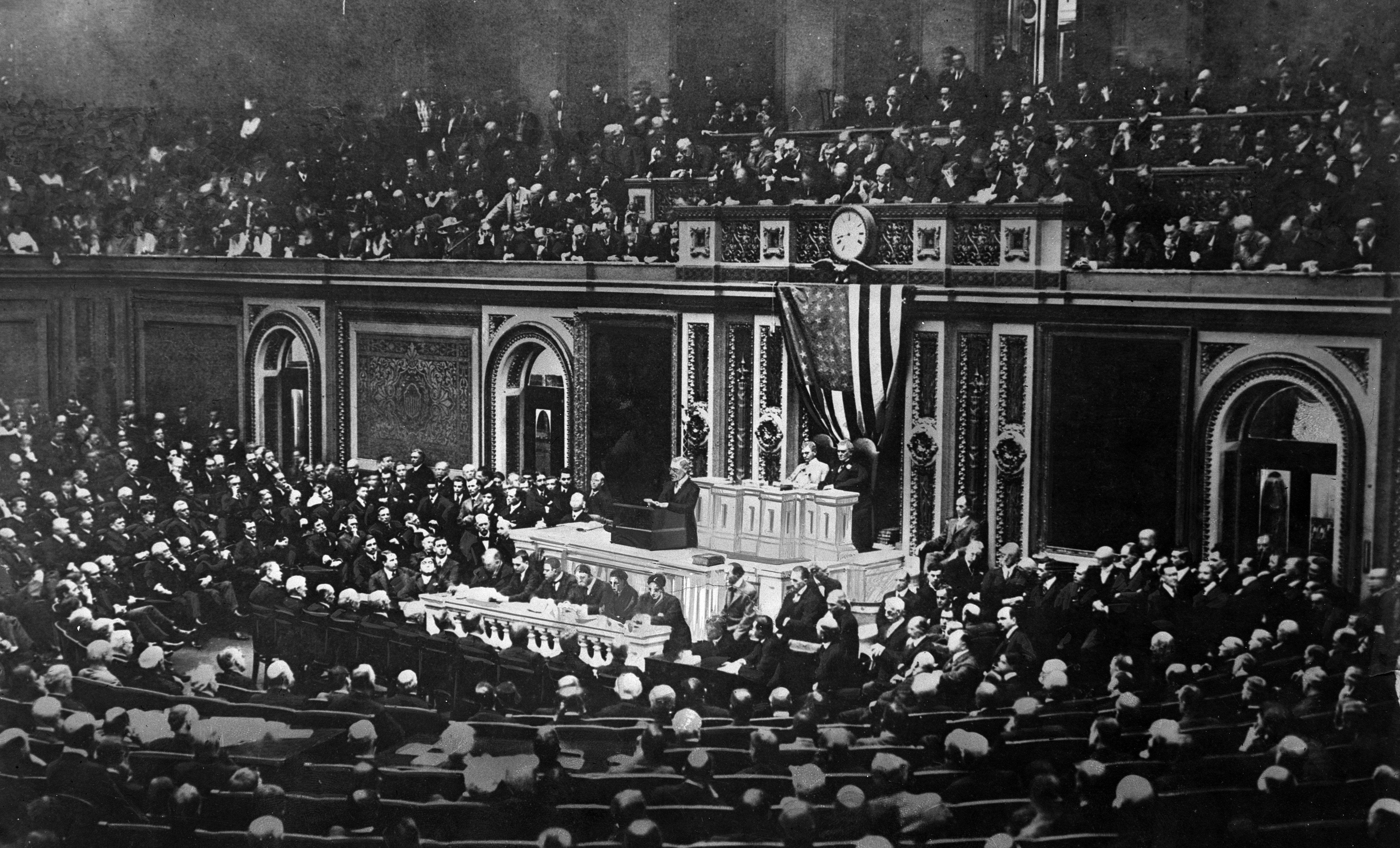 woodrow wilson s speech analyzed speech given april 2 1917