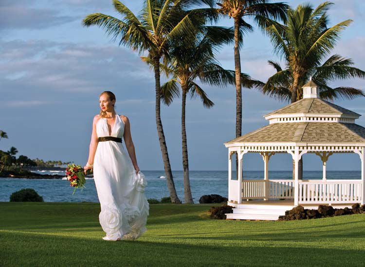 Turtle Pointe Wedding Gazebo at The Fairmont Orchid on Hawaii's Big Island