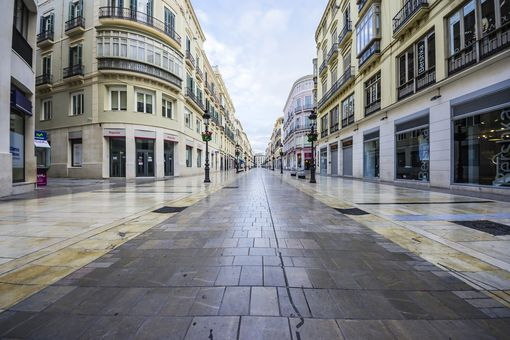 Spain, Andalusia, Malaga, shopping street