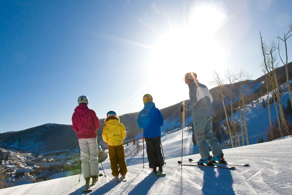 Beaver Creek family skiing