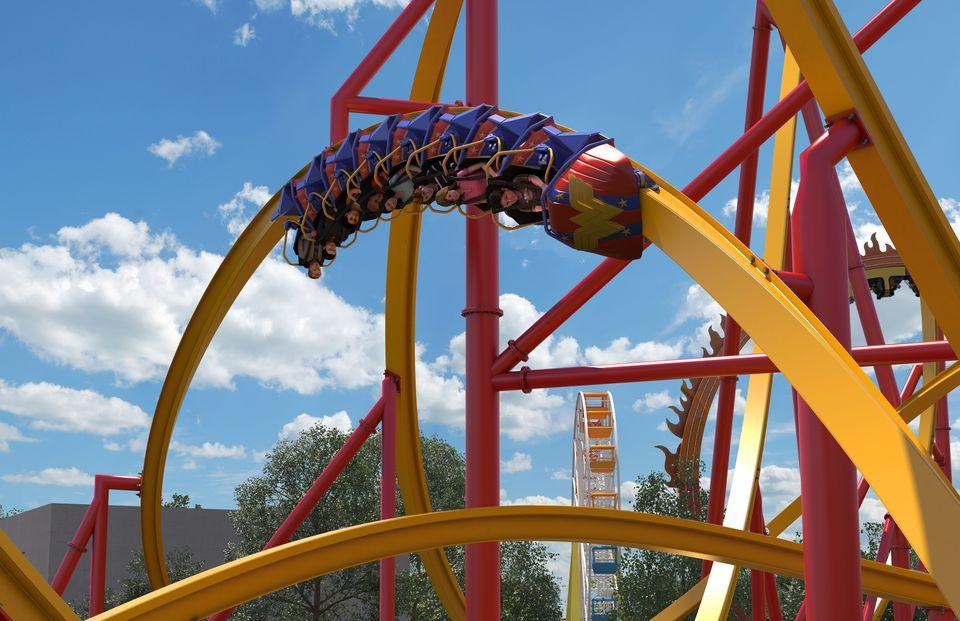 Single-rail roller coaster