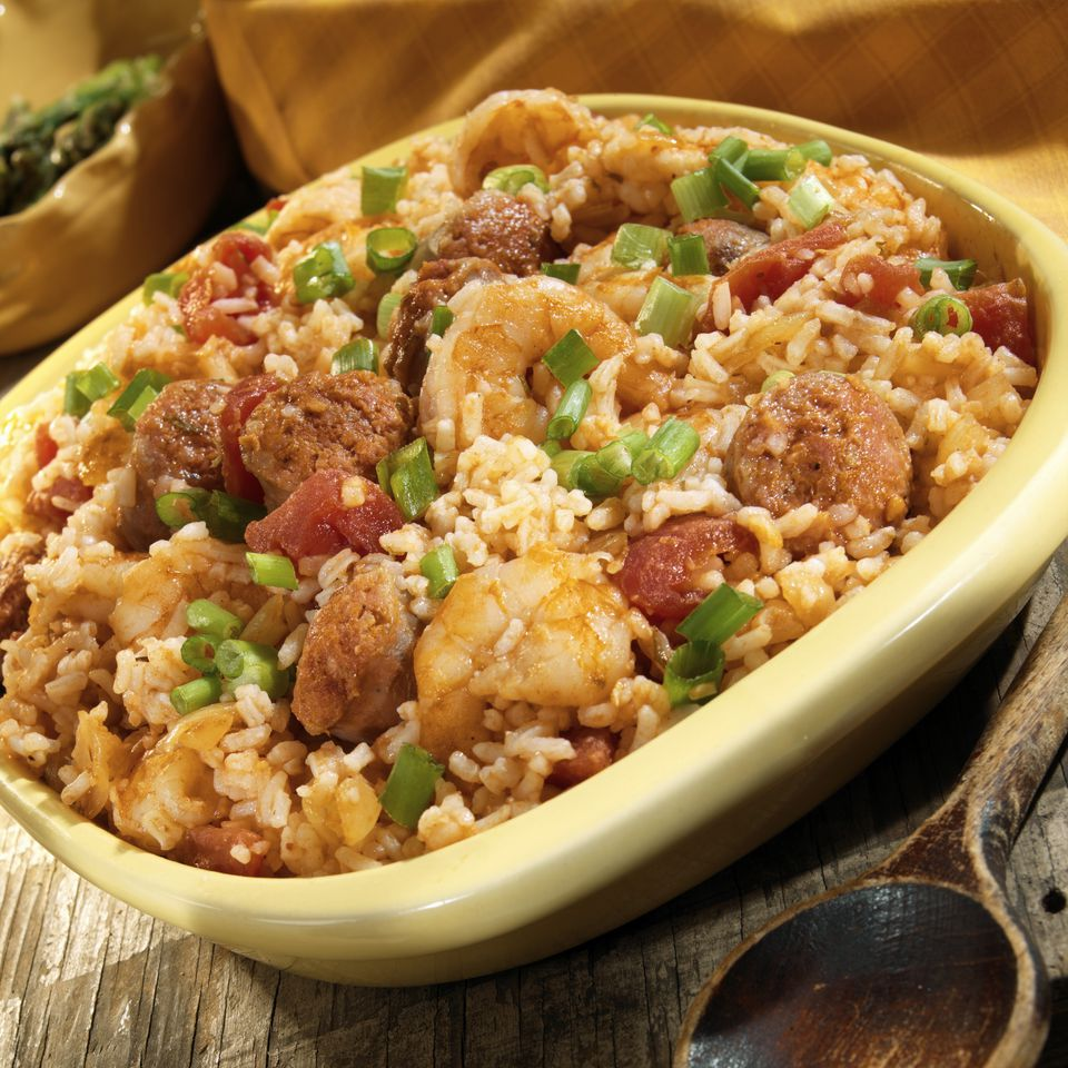 Jambalaya (rice stew with shrimps from New Orleans, USA)