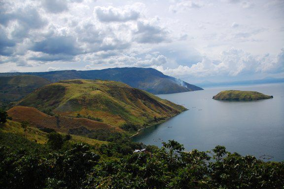 Lake Toba and Pulaua Samosir in Sumatra, Indonesia
