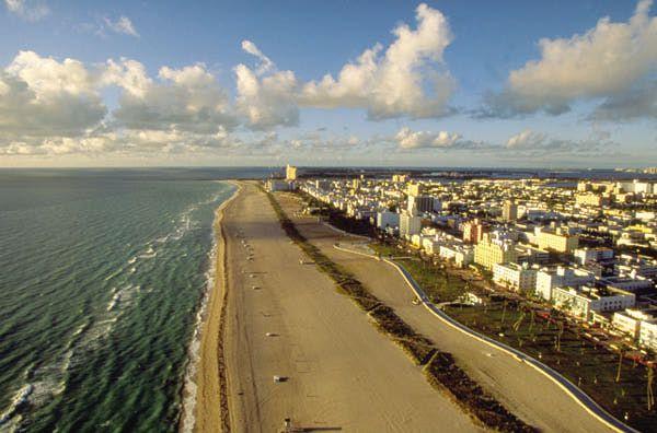 View down Miami Beach