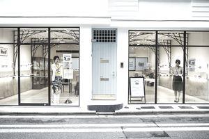 Shop selling Edo Kiriko cut glass in Tokyo, Japan.