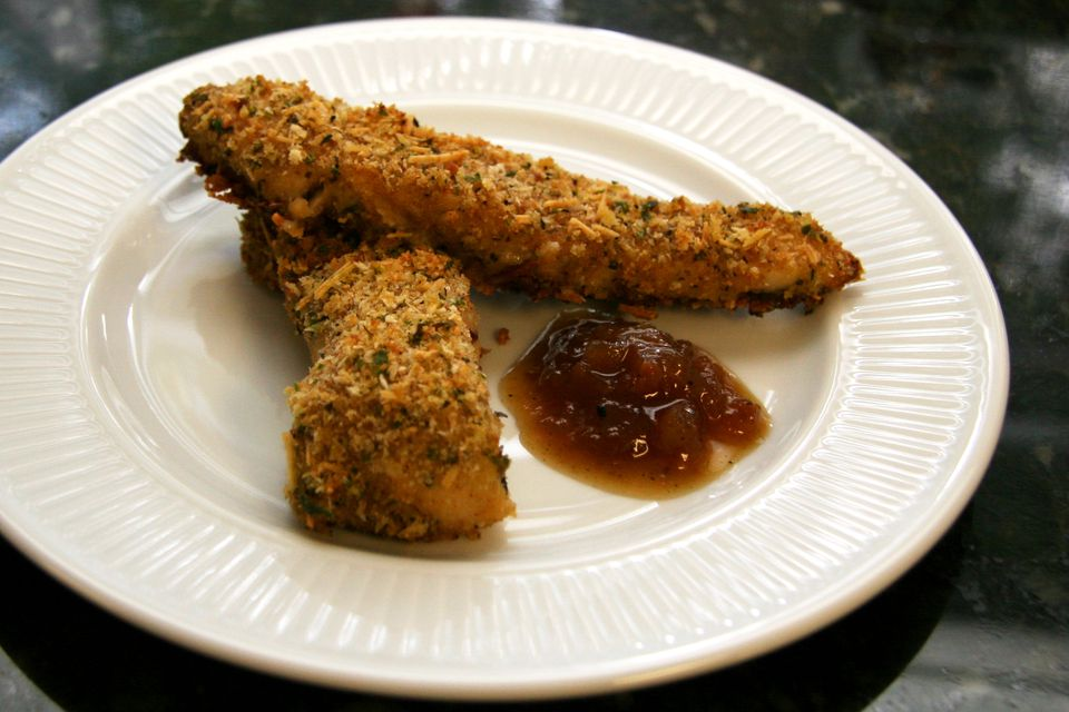 Crispy Garlic and Parmesan Oven-Fried Chicken Strips