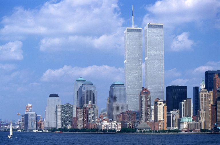 World Trade Center Twin Towers and the New York City Skyline Before the September 11, 2001 Terrorist Attack