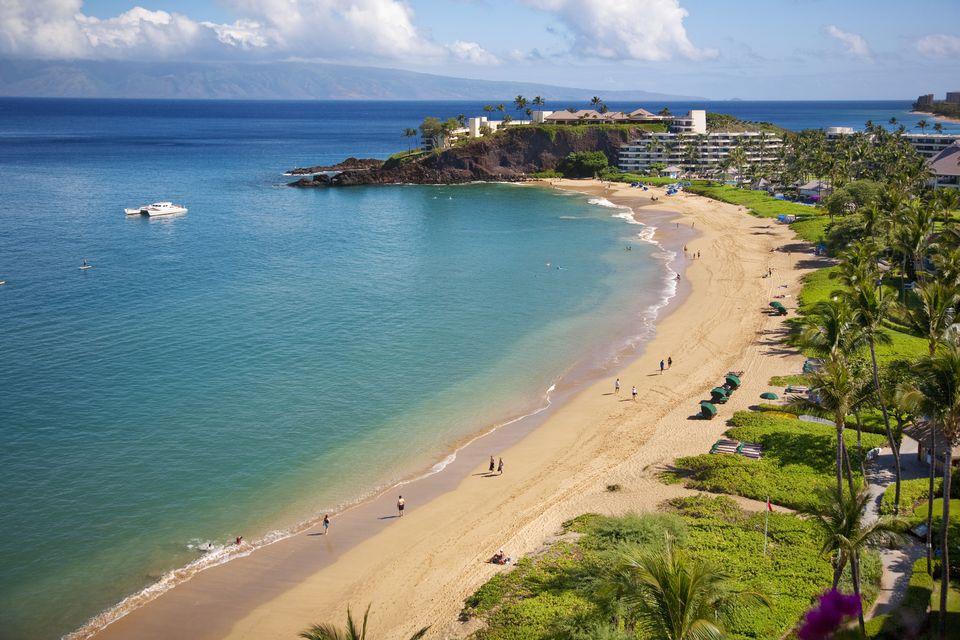 Ka'anapali Beach Looking Towards the Sheraton Maui Resort