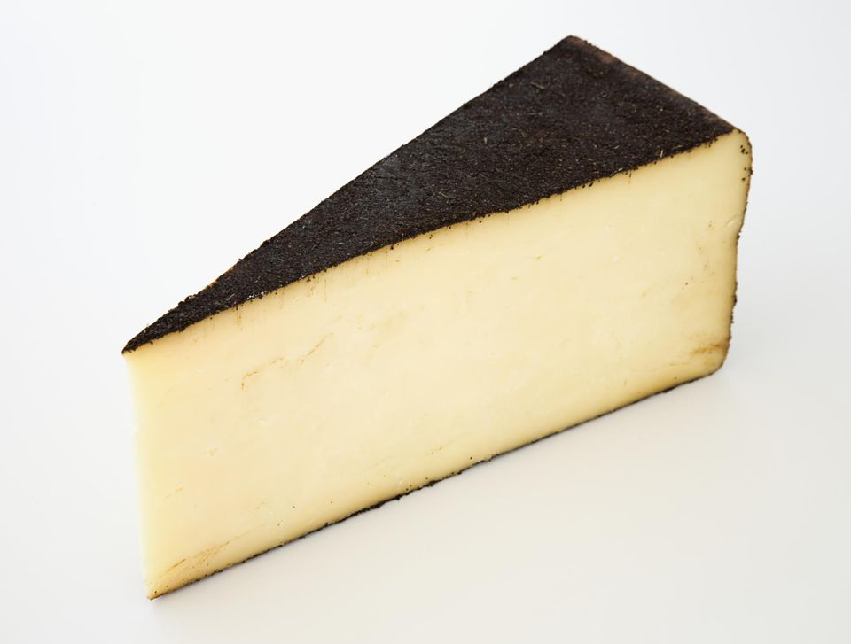 Slice of American Barely Buzzed cow's milk cheese
