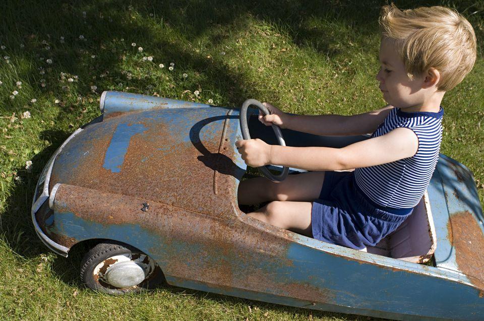 Rusty toy car