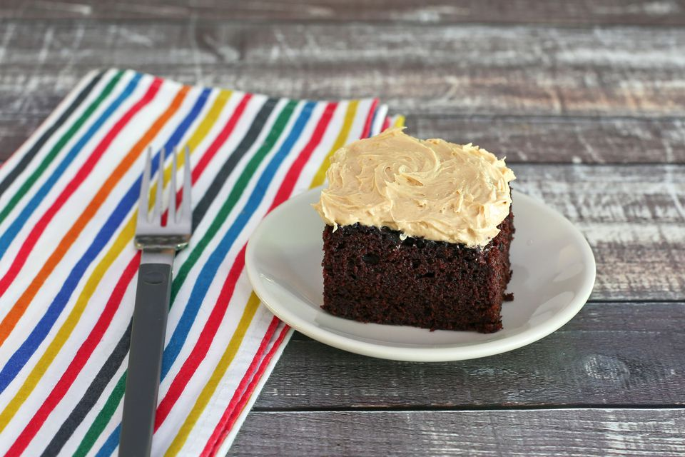 Homemade Chocolate Cake Peanut Butter Frosting: Mayonnaise Cake With Optional Frosting Recipe