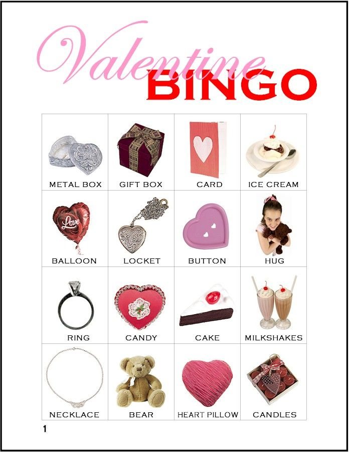 making friends printable valentine bingo game