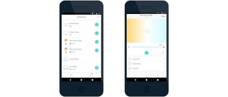 EufyHome app open on smartphone.