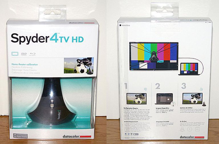 Datacolor Spyder4TV HD Color Calibration System - Photo - Package - Front and Rear View
