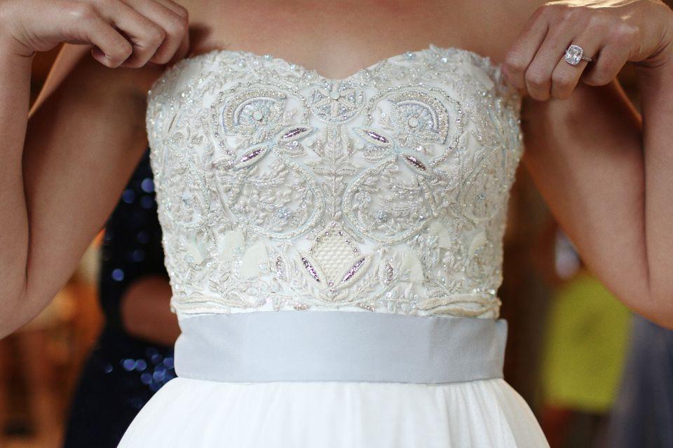 A convertible wedding dress