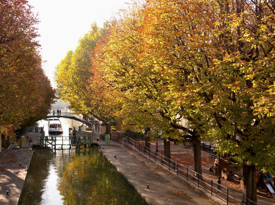 The Canal St Martin is a favorite place to stroll among Parisians.