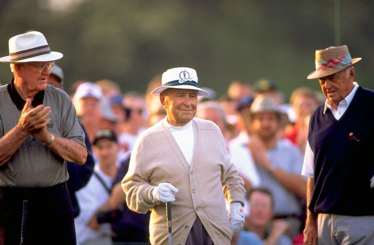 Bryon Nelson, Gene Sarazen and Sam Snead as honorary starters at The Masters