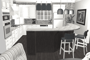 Screenshot of a kitchen designed in 3Dream