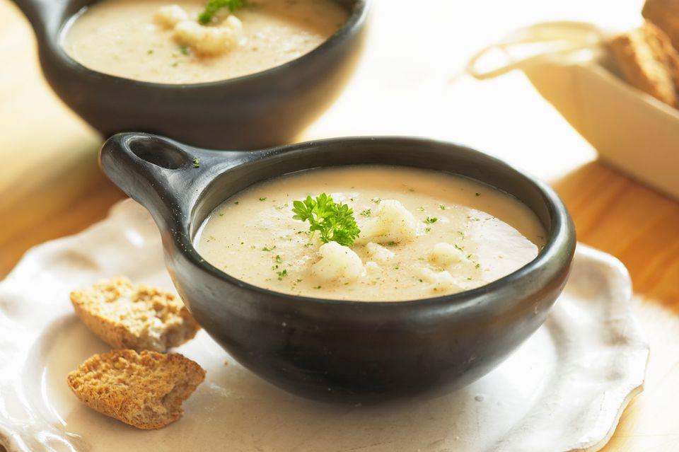 Creamy cauliflower soup recipe