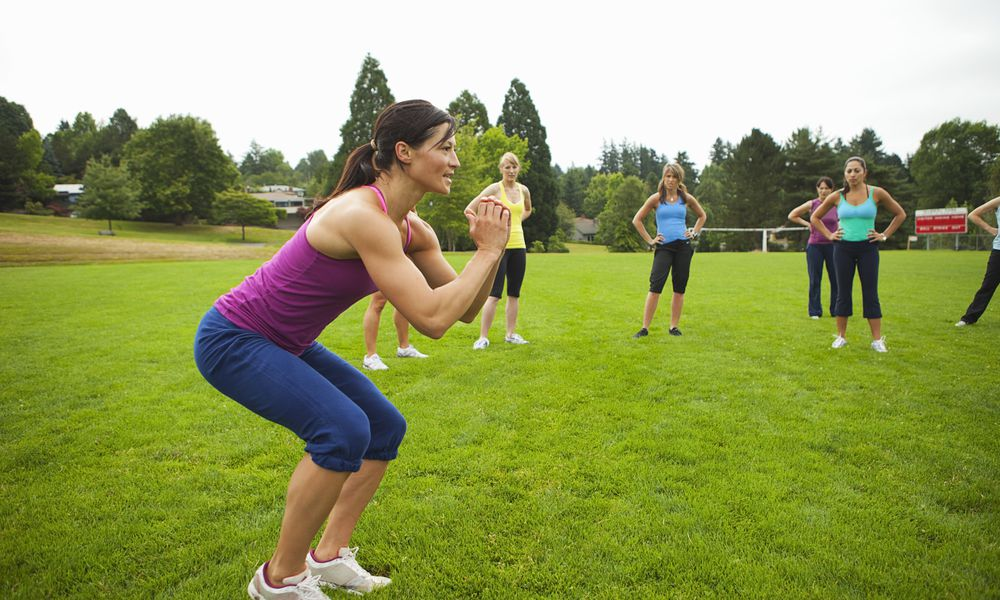 Group of Women Working-Out