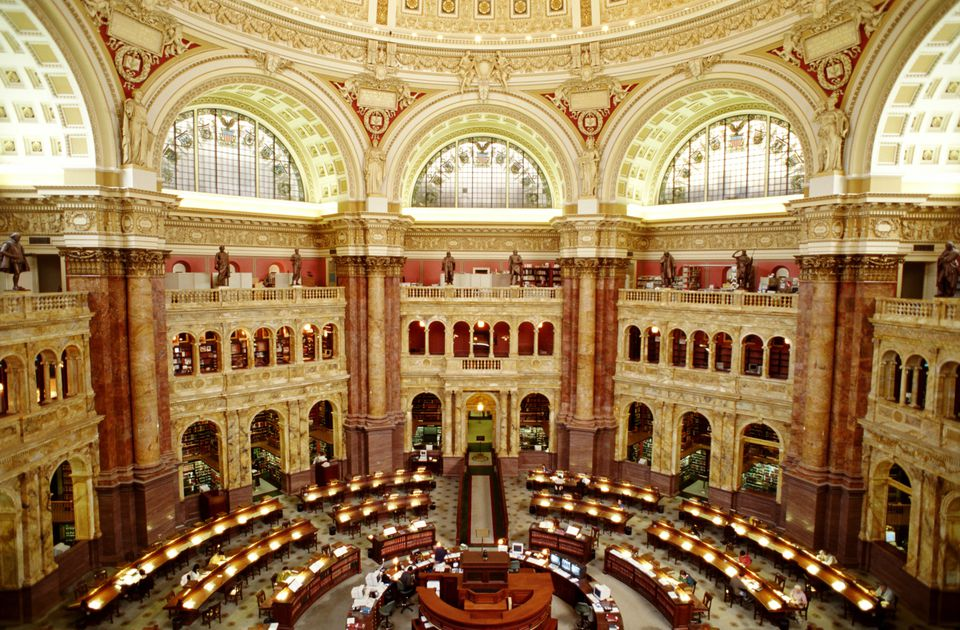 LIBRARY OF CONGRESS, MAIN READING ROOM, WASHINGTON DC, USA