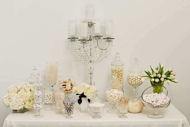 Planning the perfect candy buffet.