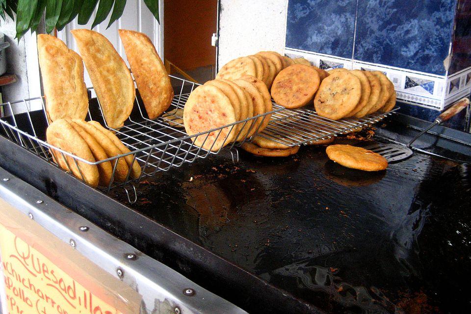 Quesadillas and gorditas