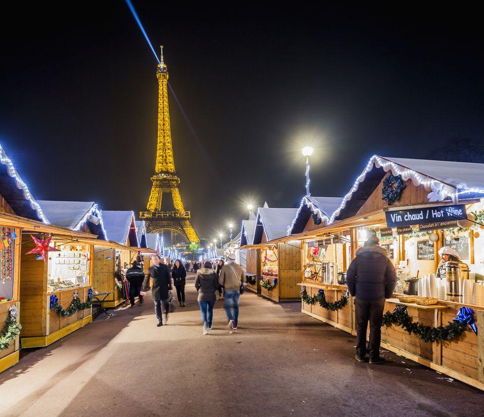 The Christmas Village at the Trocadéro