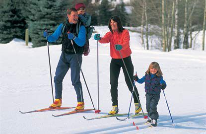 Picture of Family Skiing in Sun Valley Idaho