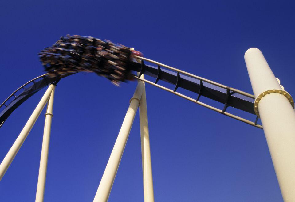 A rollercoaster at Busch Gardens.